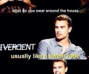 funny, divergent, and book image