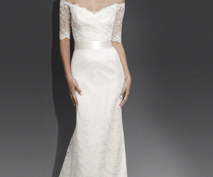 lace, trumpet, and wedding dresses image