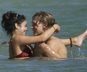 beach, couples, and vanessa hudgens image