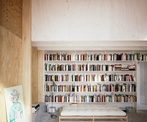 architecture, books, and room image