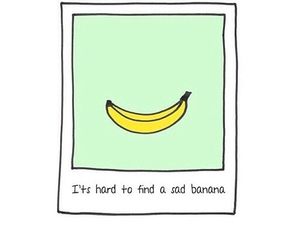 banana, hard, and sad image