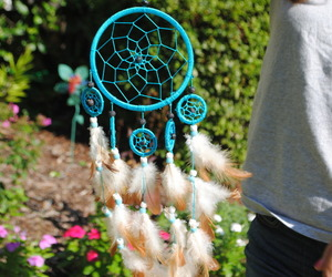 blue, dreamcatcher, and Dream image