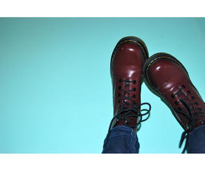 boots, burgundy, and cool image