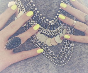 nails, necklace, and accessories image