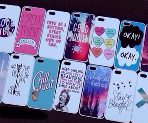 cases, iphones, and colourful image