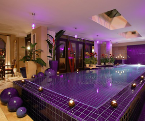 purple, photography, and pool image