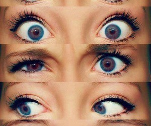 beautiful eyes, pretty, and unique image