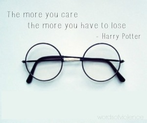 harry potter, lose, and quote image