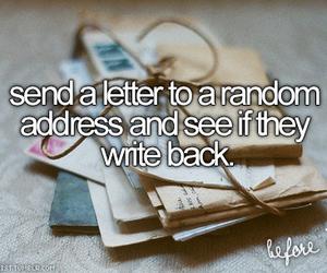 Letter, write, and random image