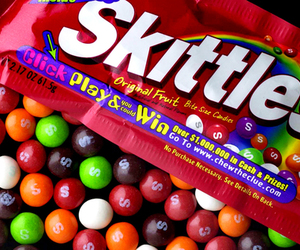 skittles, candy, and sweet image