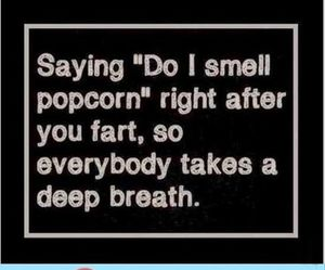 funny, popcorn, and evil image