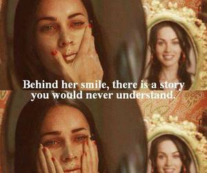 smile, megan fox, and quote image