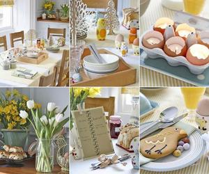 easter day, easter table setting, and easter tablescapes image