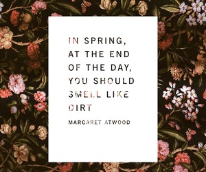 flowers, spring, and text image