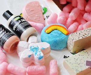lush, bath, and soap image