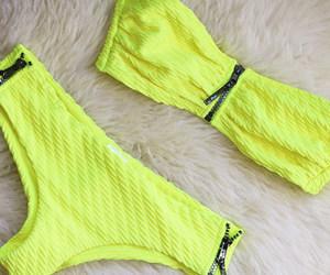 bikini, H&M, and neon image