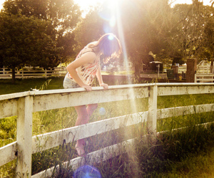 fence and girl image