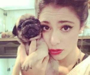 martina stoessel, violetta, and dog image