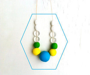 bright colors, neon necklace, and boho necklace image