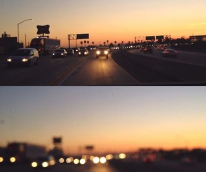 cars, driving, and highway image