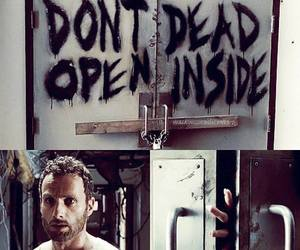 dead inside, twd, and rick grimes image