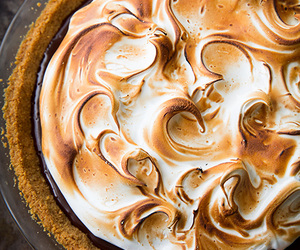 pie, food, and s'mores image