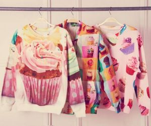 fashion, cupcakes, and sweater image