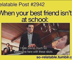 school, best friends, and lol image
