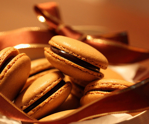 chocolate, food, and macaroons image