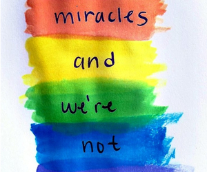 miracle, quote, and rainbow image