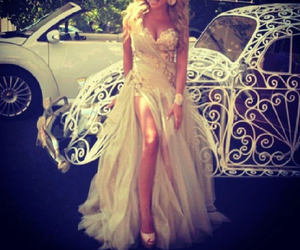 dress, car, and white image