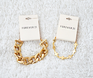 forever 21, gold, and bracelet image