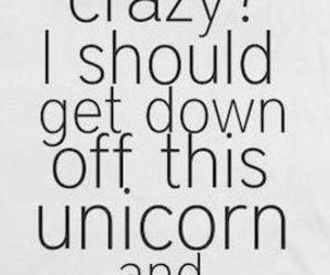 crazy, funny, and unicorn image