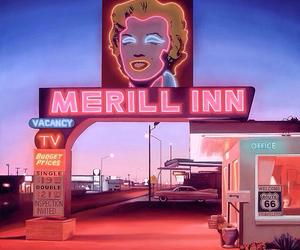 Marilyn Monroe, pink, and neon image