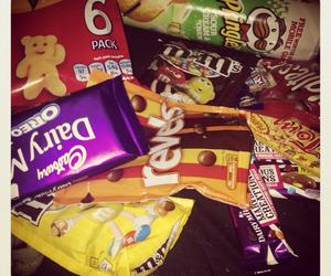 chocolate, crisps, and sweets image
