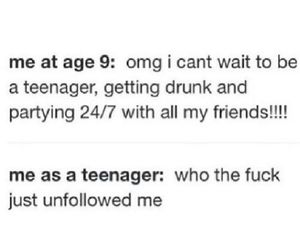 teenager, funny, and drunk image