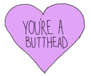 Butthead, transparent, and heart image