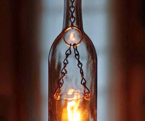 bottle, candle, and delicate image