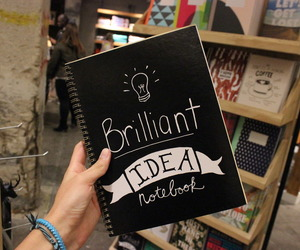 book, idea, and notebook image