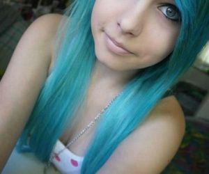 girl, scene, and dyed hair image