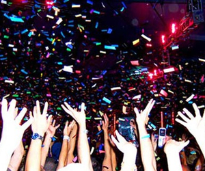 party, confetti, and hands image