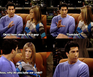 friends, funny, and rachel green image