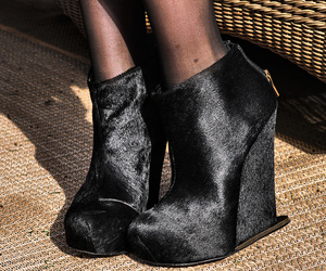 shoes, wedges, and fashion image