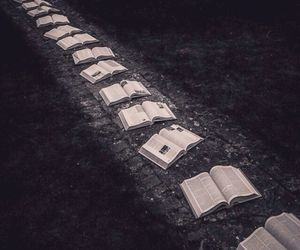 books and nature image