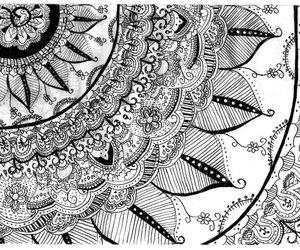 blanco, dibujo, and flor image