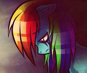 my little pony, pain, and rainbow dash image