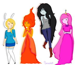 Bonnie, marceline, and fionna image