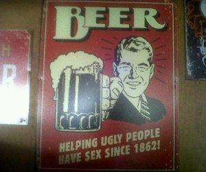 beer, lol, and vintage image