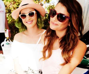 katy perry, lea michele, and coachella image