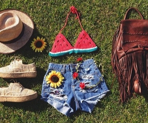 outfit, summer, and watermelon image